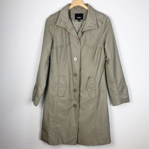 Mossimo Trench Coat Tan Button Up Size Medium